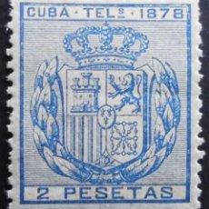 Sellos: CUBA - ESPAÑA DEPENDENCIAS POSTALES 1878 TELEGRAFOS. Lote 68945857