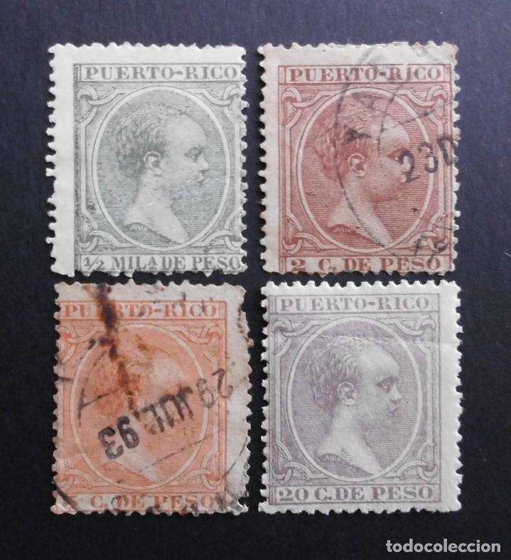 PUERTO RICO - ESPAÑA - COLONIAS ESPAÑOLAS Y DEPENDENCIAS POSTALES 1891 - 1892 (Sellos - España - Colonias Españolas y Dependencias - América - Puerto Rico)