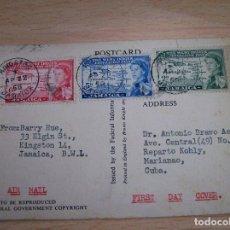 Sellos: TARJETA CORREO AEREO ENVIADA DE JAMAICA A CUBA. AÑO 1958 ( VIA AIR MAIL). Lote 69533461
