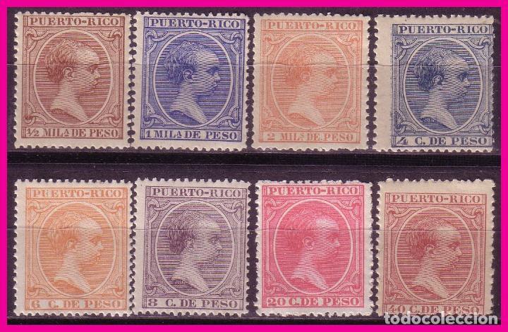 PUERTO RICO 1894 ALFONSO XIII, EDIFIL Nº 102 A 104, 109, 111 A 114 * * (Sellos - España - Colonias Españolas y Dependencias - América - Puerto Rico)