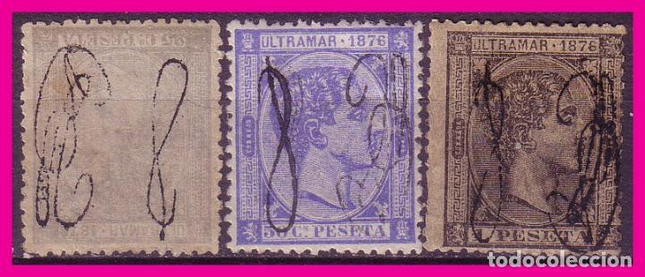 PUERTO RICO 1876 ALFONSO XII, EDIFIL Nº 8 A 10 * (Sellos - España - Colonias Españolas y Dependencias - América - Puerto Rico)