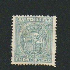 Sellos: CUBA.FISCAL.1898 Y 99.--25 C.DE PESO.. Lote 74897139