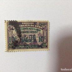Sellos: CUBA 1937 CONMEMORACIÓN FERROCARILES. Lote 75783235