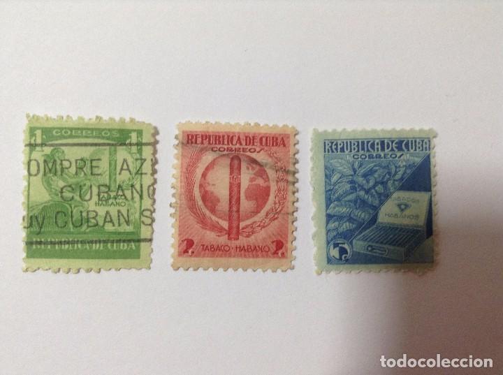 CUBA 1939 PROPAGANDA TABACO CUBANO (Sellos - España - Colonias Españolas y Dependencias - América - Cuba)