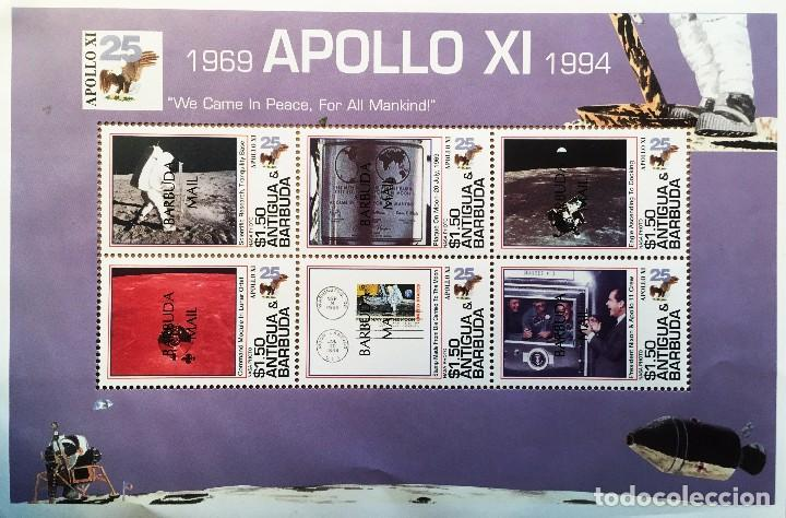 Sellos: Hoja Apolo XI - Antigua y Barbuda - 1994 - MNH - Foto 1 - 76565095