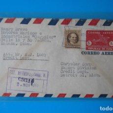 Sellos: CUBA: ENTERO POSTAL AÑO 1950, CIRCULADO A DETROIT EN USA, BUENAS CONDICIONES TCES0003. Lote 77518433