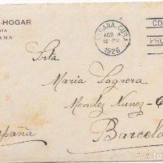 Sellos: CUBA. SOBRE CIRCULADO DE LA HABANA A BARCELONA. 12-AGO-1926. SELLO SIN DENTAR ABAJO. Lote 79569973