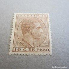 Sellos: CUBA 1881 ALFONSO XII, EDIFIL 66*, FIJASELLOS Y SOMBRAS EN GOMA. Lote 81733444