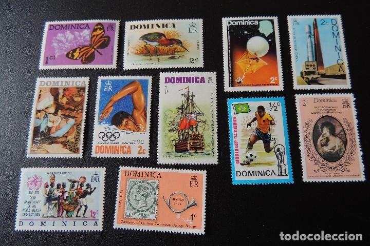 11 SELLOS DOMINICA PERFECTO ESTADO (Sellos - España - Colonias Españolas y Dependencias - América - Otros)