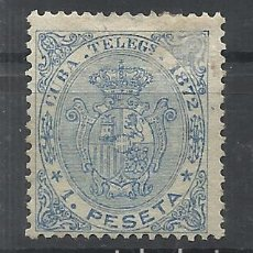 Sellos: CUBA 1872 EDIFIL 22 T NUEVO(*) VALOR 2017 CATALOGO 8.20 EUROS. Lote 154927113