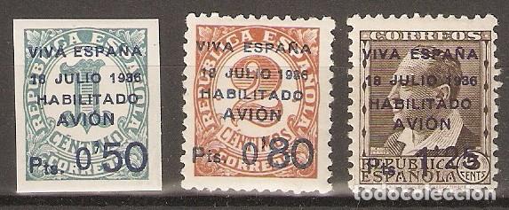 CANARIAS 1936 EDIFIL 1/3* MLH (Sellos - España - Colonias Españolas y Dependencias - América - Otros)