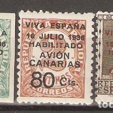 Sellos: CANARIAS 1937 EDIFIL 4A/7* MLH. Lote 90087208
