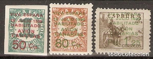 CANARIAS 1937 EDIFIL 8/10* MLH (Sellos - España - Colonias Españolas y Dependencias - América - Otros)