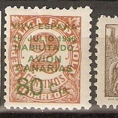 Sellos: CANARIAS 1937 EDIFIL 8/10* MLH. Lote 90087348