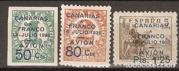 CANARIAS 1937 EDIFIL 11/13* MLH (Sellos - España - Colonias Españolas y Dependencias - América - Otros)