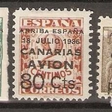 Sellos: CANARIAS 1937 EDIFIL 20/22* MLH. Lote 90087524