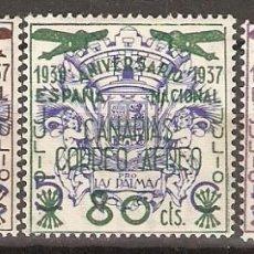 Sellos: CANARIAS 1937 EDIFIL 31/33* MLH. Lote 90087616