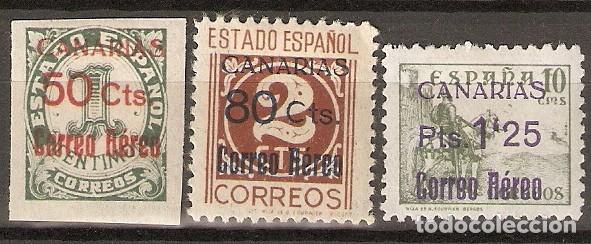 CANARIAS 1938 EDIFIL 37/39* MLH (Sellos - España - Colonias Españolas y Dependencias - América - Otros)