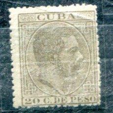 Sellos: EDIFIL 73 DE CUBA. 20 CTS. ALFONSO XII AÑO 1882. VER DESCIRPCIÓN. Lote 94299282