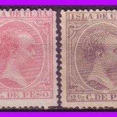 Sellos: CUBA 1894 ALFONSO XIII, EDIFIL Nº 136 A 139 (*) . Lote 95348471