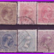 Sellos: CUBA 1896 ALFONSO XIII, EDIFIL Nº 146 A 151(O). Lote 95349035
