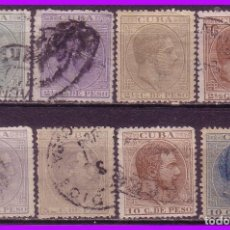 Sellos: CUBA 1883 ALFONSO XII, EDIFIL Nº 95 A 103 (O). Lote 95349247