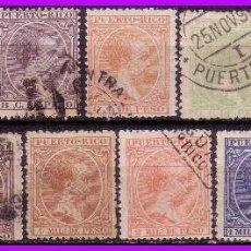 Sellos: PUERTO RICO 1894 ALFONSO XIII, EDIFIL Nº 102 A 114 (O) COMPLETA. Lote 96252679