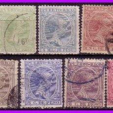 Sellos: PUERTO RICO 1896 ALFONSO XIII, EDIFIL Nº 115 A 127 (O) . Lote 96252855