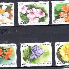 Sellos: SERIE COMPLETA DE CUBA DEL TEMA (FLORA). Lote 97075835