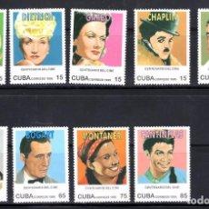 Sellos: SERIE COMPLETA DE CUBA NUEVA** CENTENARIO DEL CINE. Lote 173379407
