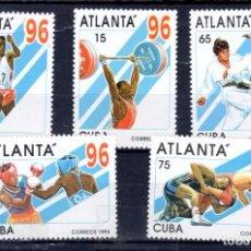 Sellos: SERIE COMPLETA DE CUBA NUEVA** ATLANTA´96. Lote 97121567