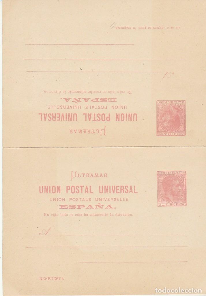 E.P.: XX 13/14 ALFONSO XII 1882 (TARJETAS DOBLES) (Sellos - España - Colonias Españolas y Dependencias - América - Cuba)