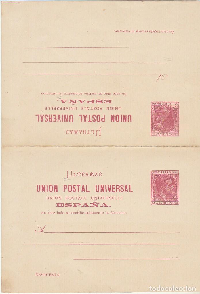Sellos: E.P.: xx 13/14 ALFONSO XII 1882 (TARJETAS DOBLES) - Foto 3 - 97566895