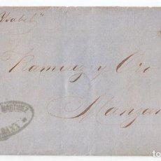 Sellos: CARTA ENTERA DE MATANZAS A MANZANILLO. 1862. POR EL VAPOR ISABEL. RARA.. Lote 97932459