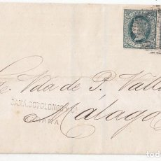 Sellos: ENVUELTA DE LA HABANA A MÁLAGA. 1866. PAREJA DE SELLOS DE 20 CÉNTIMOS. CUBA. Lote 99856507