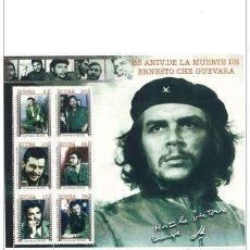 Sellos: CUBA, 2002, HOJA SELLOS CHE GUEVARA. Lote 99861247