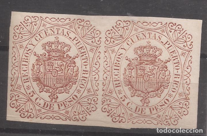 1882 INGRESOS FORBIN 7** PUERTO RICO-RECIBOS Y CUENTAS - MNH (Sellos - España - Colonias Españolas y Dependencias - América - Puerto Rico)