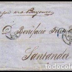 Sellos: CARTA 1858 HABANA-SANTANDER VIA PARIS . Lote 102793359