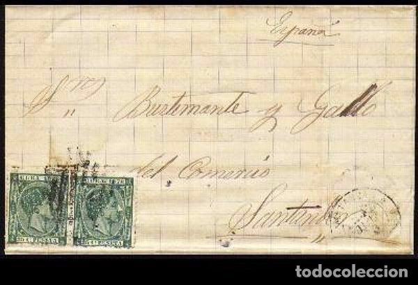 CARTA 1878 MATANZAS-SANTANDER (Sellos - España - Colonias Españolas y Dependencias - América - Cuba)