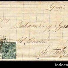 Sellos: CARTA 1878 MATANZAS-SANTANDER . Lote 102896979