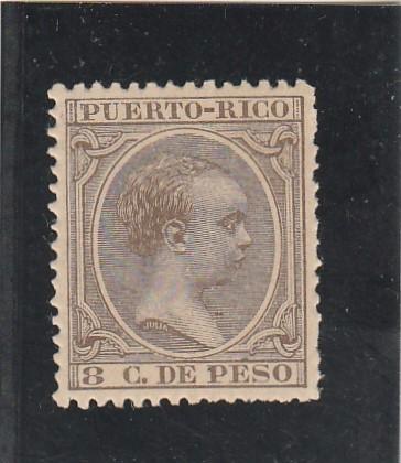 PUERTO RICO 1891-92 - EDIFIL NRO. 96 - ALFONSO XIII - 8C.- NUEVO (Sellos - España - Colonias Españolas y Dependencias - América - Puerto Rico)