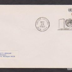 Sellos: 4 FDC UN NEW YORK, 1965 YEARS, LOT 1. Lote 107073411