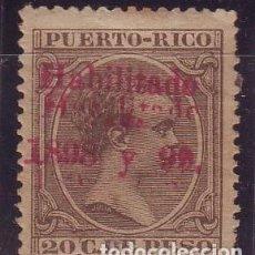Sellos: 1898.PUERTO RICO 164 DOBLE SOBRECARGA. NUEVO CON CHARNELA. SCOTT 166. Lote 107732195