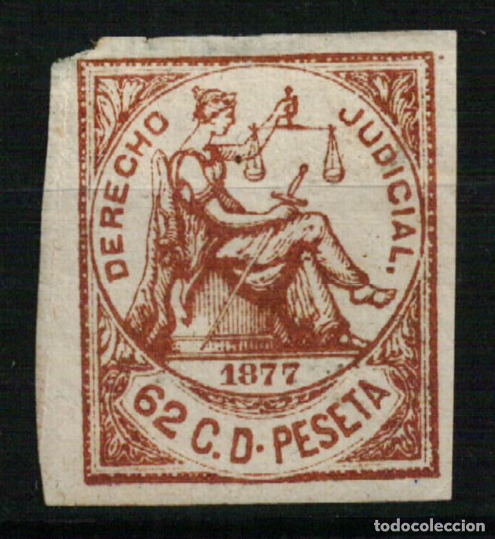 FISCAL ANTILLAS. DERECHO JUDICIAL 62 CÉNTIMOS SD DE 1877 (Sellos - España - Colonias Españolas y Dependencias - América - Antillas)
