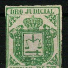 Sellos: FISCAL COLONIAS ESPAÑOLAS. DERECHO JUDICIAL MEDIO REAL FUERTE VERDE DE 1856/64. Lote 108317007