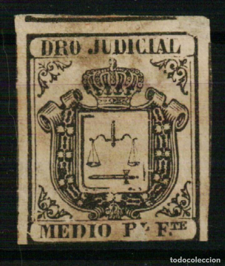 FISCAL COLONIAS ESPAÑOLAS. DERECHO JUDICIAL MEDIO REAL FUERTE VERDE DE 1856/64 (Sellos - España - Colonias Españolas y Dependencias - América - Antillas)