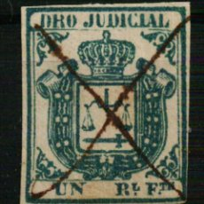 Sellos: FISCAL COLONIAS ESPAÑOLAS. DERECHO JUDICIAL UN REAL FUERTE AZUL DE 1856/64. Lote 108317443