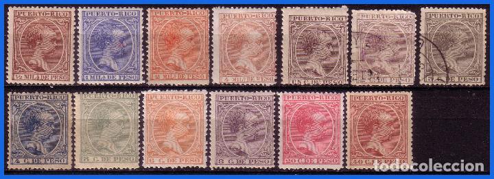 PUERTO RICO 1894 ALFONSO XIII, EDIFIL Nº 102 A 114 * 107 Y 108 (O) (Sellos - España - Colonias Españolas y Dependencias - América - Puerto Rico)