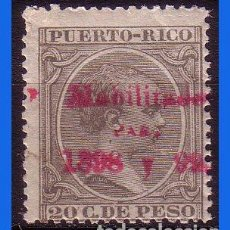 Sellos: PUERTO RICO 1898 ALFONSO XIII, HABILITADOS, EDIFIL Nº 172 * * . Lote 111630703
