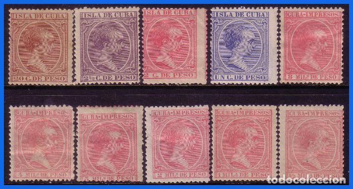 CUBA 1894 ALFONSO XIII, EDIFIL Nº 130 A 139 *, Nº 137 (*) (Sellos - España - Colonias Españolas y Dependencias - América - Cuba)